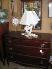 Mahogany Dresser with Mirror $225