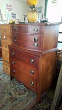 Mahogany Chest on Chest $275